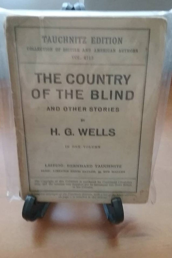 H.G. Wells The Country of the Blind First Edition, 1926 Sci Fi Steampunk