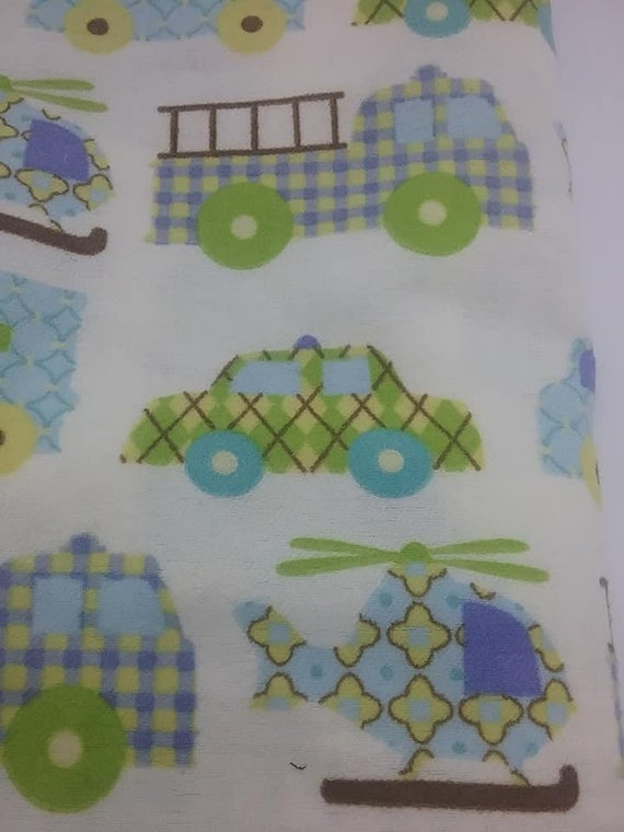 Novelty Material, Emergency Vehicles Fabric, Cotton Blend Fabric, Children's Car Print