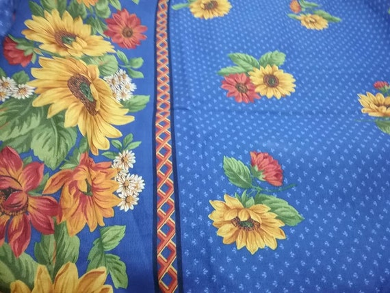 Sunflower Sewing Material, Cranston Printworks, 1 Yard Fabric
