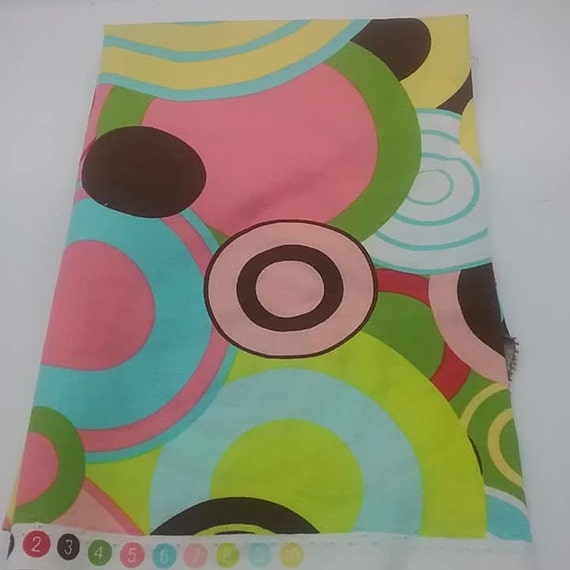 Mid Century Mod Fabric, MCM Style Material, Psychedelic Style Fabric, Groovy