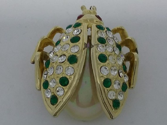 Vintage Rhinestone Insect Brooch,