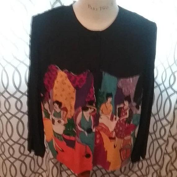 KSL Blouse, Karin Stevens Designer Jacket, Cafe Scene Artistic Style