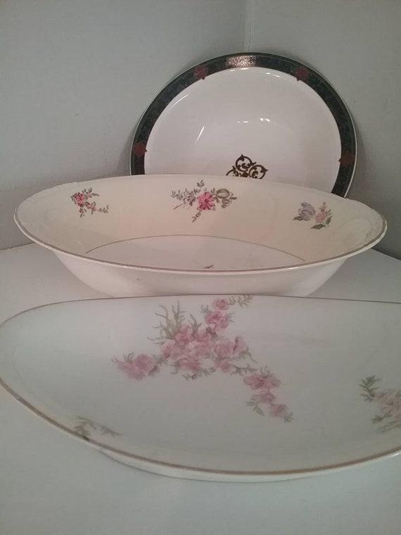 Vintage Mismatched Serving Bowls, Steampunk Dining