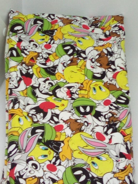 2 Yards Licensed Looney Tunes Fabric, Cotton Looney Tunes Mixed Characters, Cotton Novelty Material for Looney Tunes