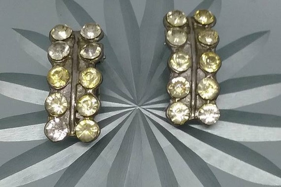 Vintage Rhinestone Dress Clips, 1930's Wedding, Bridal