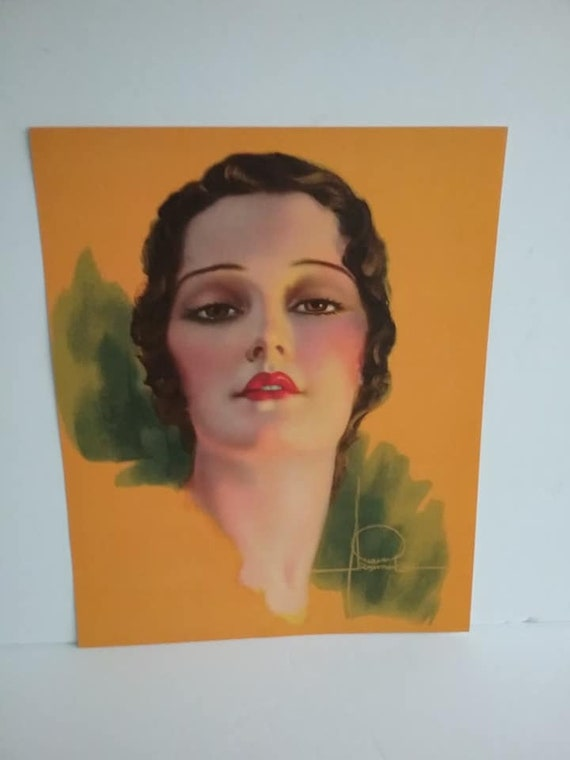 Vintage Lithograph of Flapper Girl, Rolf Armstrong