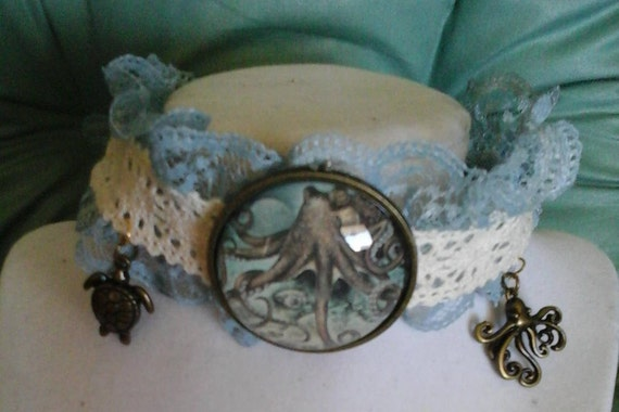 Steampunk Nautical Octopus Choker