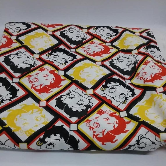2 Yards of Betty Boop Material, Quilting Cotton Fabric,