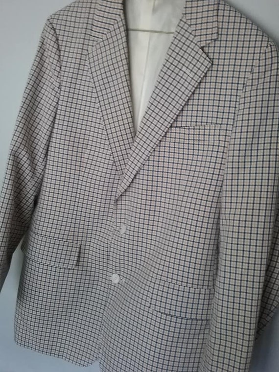 70's Plaid Sport Jacket, Men's 40 Blazer