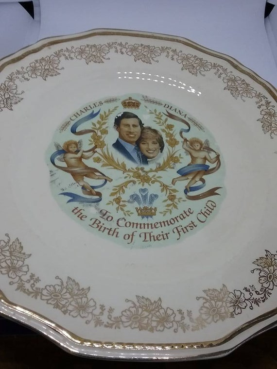 Royal Collectible, Alfred Meakin Collector Plate, Commemorate Birth of Prince William, Collectible Plate of Birth of Prince William