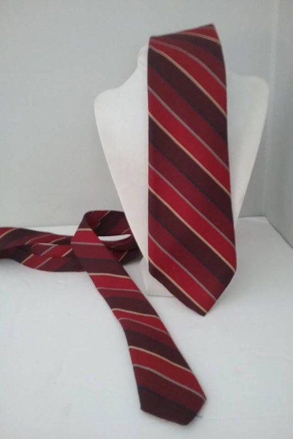 Men's Vintage Striped Tie by Saddle Club, Made in Italy
