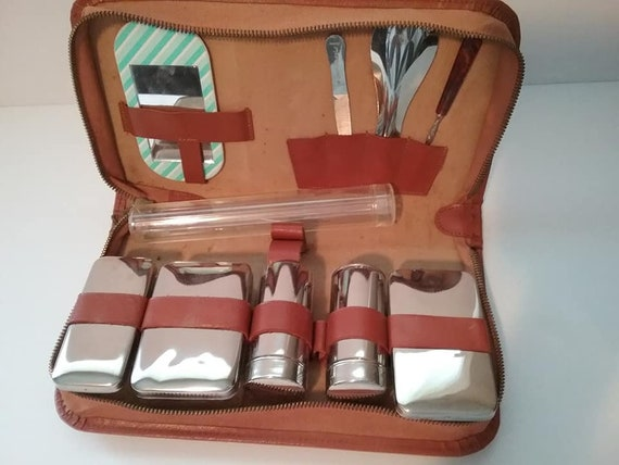 Vintage Men's Grooming Kit, Vintage Made in Germany Grooming Travel Kit, Retro Men's Vanity Kit, German Men's Grooming Kit, Men's Travel Kit