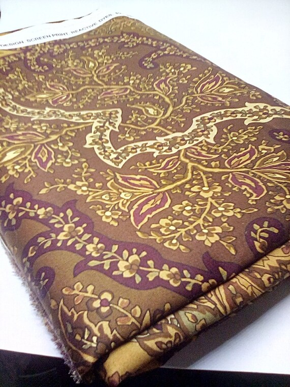 2+ Yards Cotton Sateen Fabric, Braemore Design, Satin Finish, High Quality Made in Peru