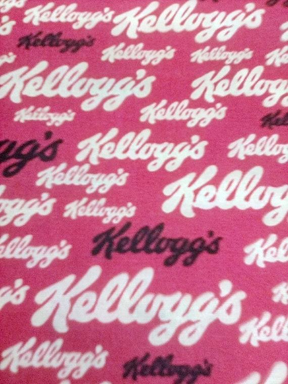 1 Yard Cotton Kellogg's Logo, Kellogg' s Company Logo, Cereal Novelty Material