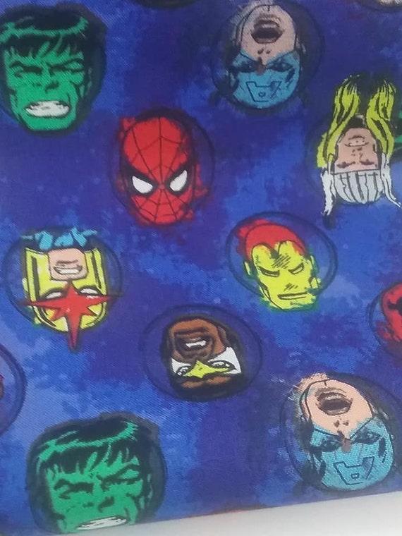 Marvel Material, 2 Yards Licensed Superhero  Fabric, Marvel Superhero Cotton Fabric