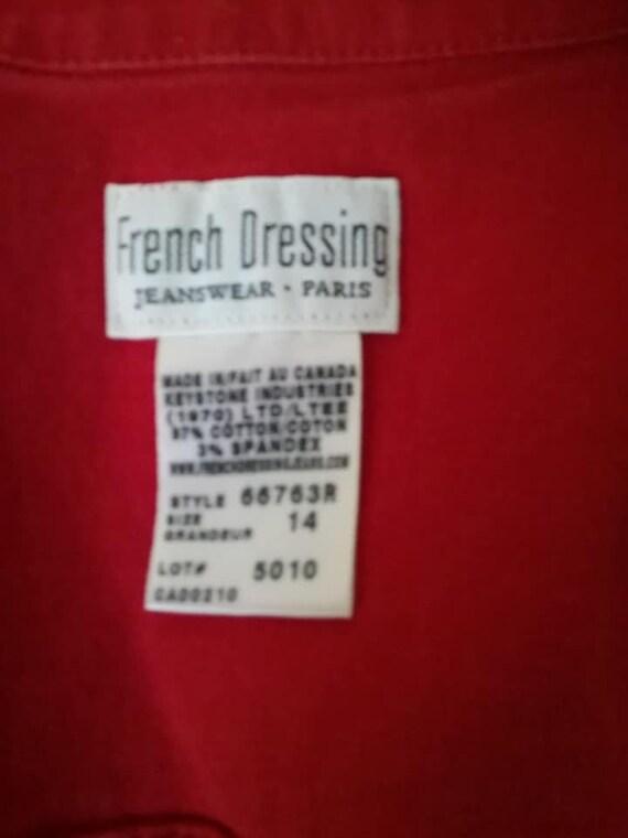 Vintage Red Jean Vest for Women,