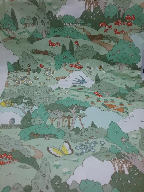 2 Yards 100% Cotton Material, Meadowland Print Fabric, by Cyrus Clark Co Inc