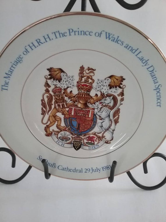 Commemorate Marriage of Charles and Diana, Charles and Diana Wedding Souvenir, Wood & Sons Commemorative Royal Wedding Plate, Royal Wedding