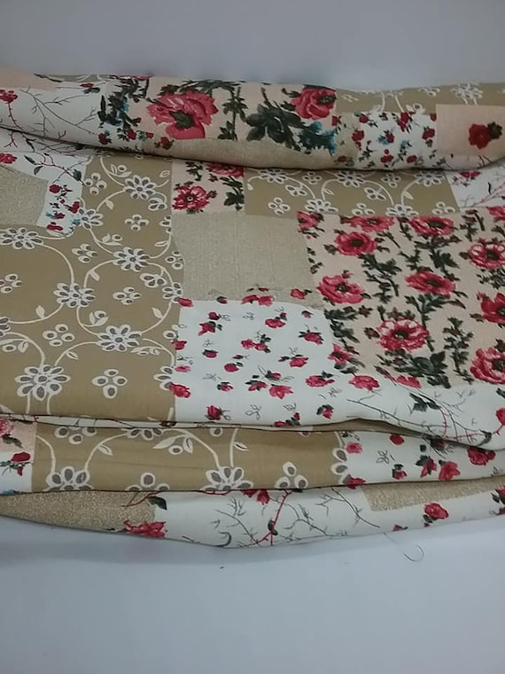 Polyester Floral Fabric,  4 Yards Floral Printed Material