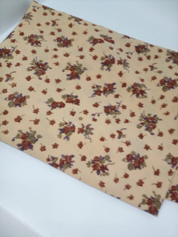 Polyester Floral Fabric,  1 Yard Polyester Material, Marocain Tsumani Rotary Print
