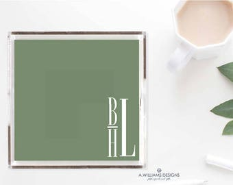 Personalized Lucite Tray/Acrylic Tray/Custom office organizer/Acrylic Tray sizes 6x6 or 12x12/ perfect for bridesmaid gift or Christmas gift