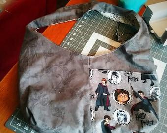 Harry Potter Inspired Hobo Slouch Bag Purse