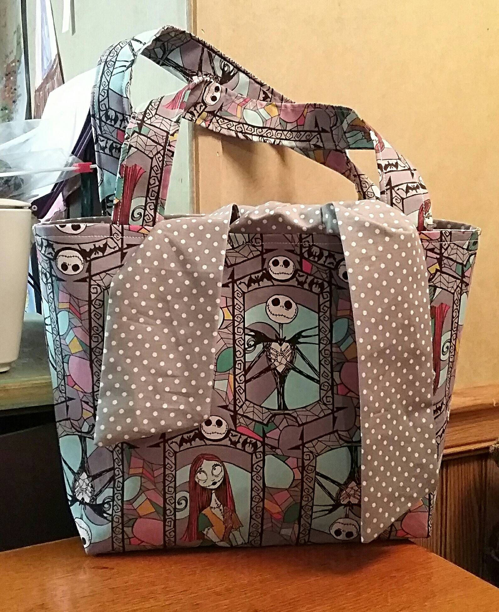 Nightmare Before Christmas Inspired Stained Glass Tie Sash Tote Bag ...
