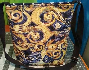 Doctor Who Inspired Exploding Tardis Crossbody Bag Purse