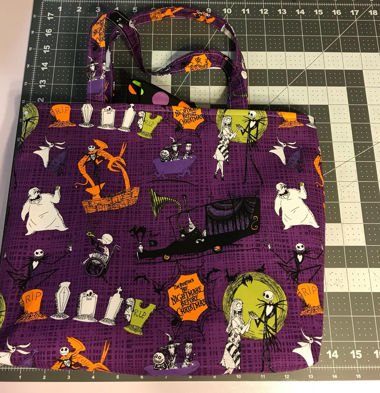 Purple Nightmare Before Christmas Disney Inspired Tie Sash Tote Bag ...
