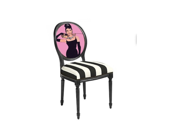 Audrey Hepburn Petit Djeuner Chaise Pop Art De Tiffany