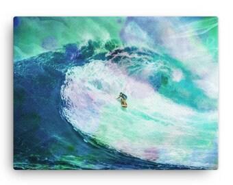 Big Wave Surfing Canvas | Big Wave Surfer Canvas