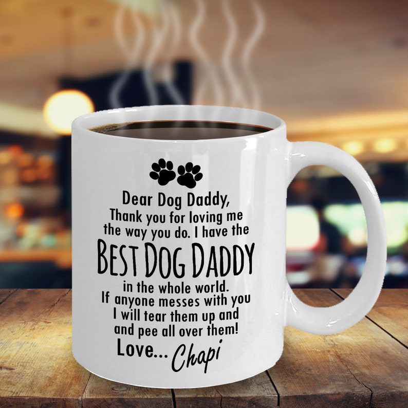 8fd64b339e6 GIFT for DOG DAD Personalized Dog Dad Mug From Dog Gift For Dog Lover  Fathers Day or Birthday Personalized Dog Gift Custom Dog Dad Mug