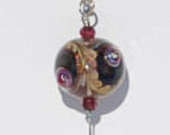 "Needle Threader - Necklace - 35"" - Lydia Workman Muell - Glass - Lampwork - Cross Stitch - Needlepoint - Sewing - Quilting - Embroidery"
