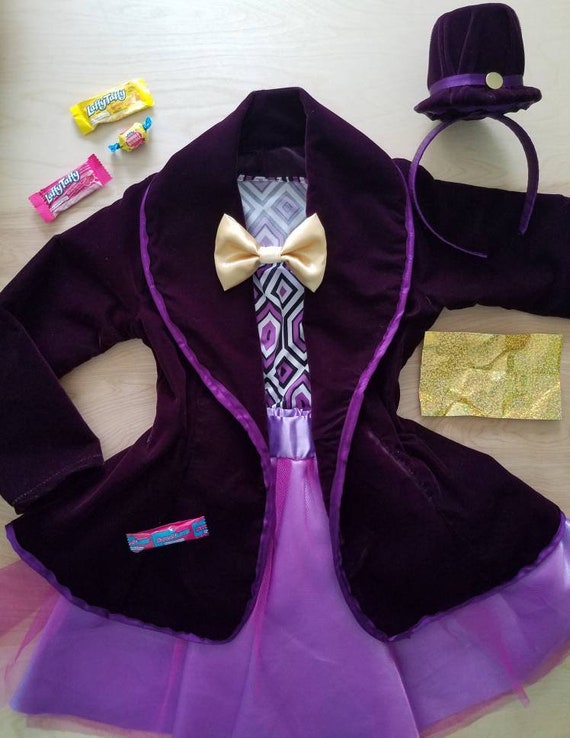 Willy Wonka Themed Costume With Headband Top Hat