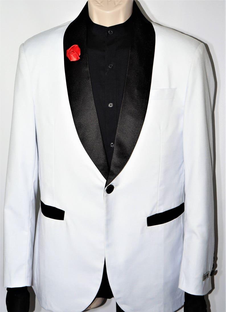 Luxury White Groom Suit Blazer