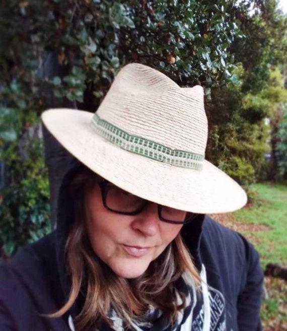 1970s vintage Sahuayo Panama hat in a fedora style