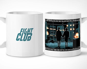 Fight Club-Cup exclusive mug/exclusive mug-Fight Club Tyler Durden Marla singer Cinema Fincher Pitt Norton Mayhem Cup coffee 90s