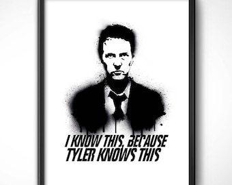 Fight Club > Narrator x cm-Poster print HQ exclusive/exclusive poster High Quality Printing-Club de la Lucha