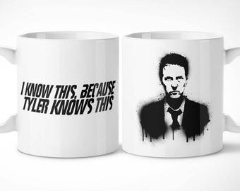 Fight Club > Narrator-Exclusive Mug Cup/exclusive mug-Fight Club Tyler Durden Marla singer film movie cinema movie
