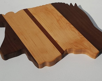 Arkansas Razorback Cutting Board/ Arkansas Razorbacks/ Arkansas Cutting board/ Razorback Cutting Board/ College Cutting Board/ Hog Cutting