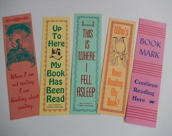 Letterpress Printed Book Marks / Set of 5