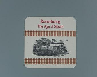 Railroad / Steam Engine / Beverage Coaster Set