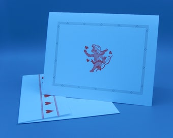 Cupid Note Card Set / Letterpress Printed