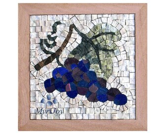 Mosaic kit diy poppies stained glass mosaic tiles mosaics etsy mosaic wall art kit fall 9x9 diy mosaics tiles craft adults do it yourself art project gift ideas for women feng shui abundance art solutioingenieria Image collections