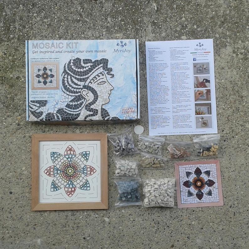 Diy Roman Mosaics Kit For Adults Pomegranate Flower Marble