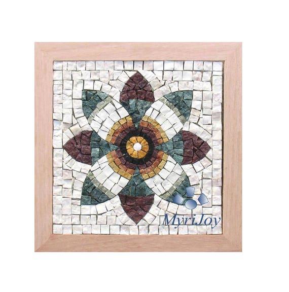Diy roman mosaics kit for adults pomegranate flower marble etsy image 0 solutioingenieria Choice Image