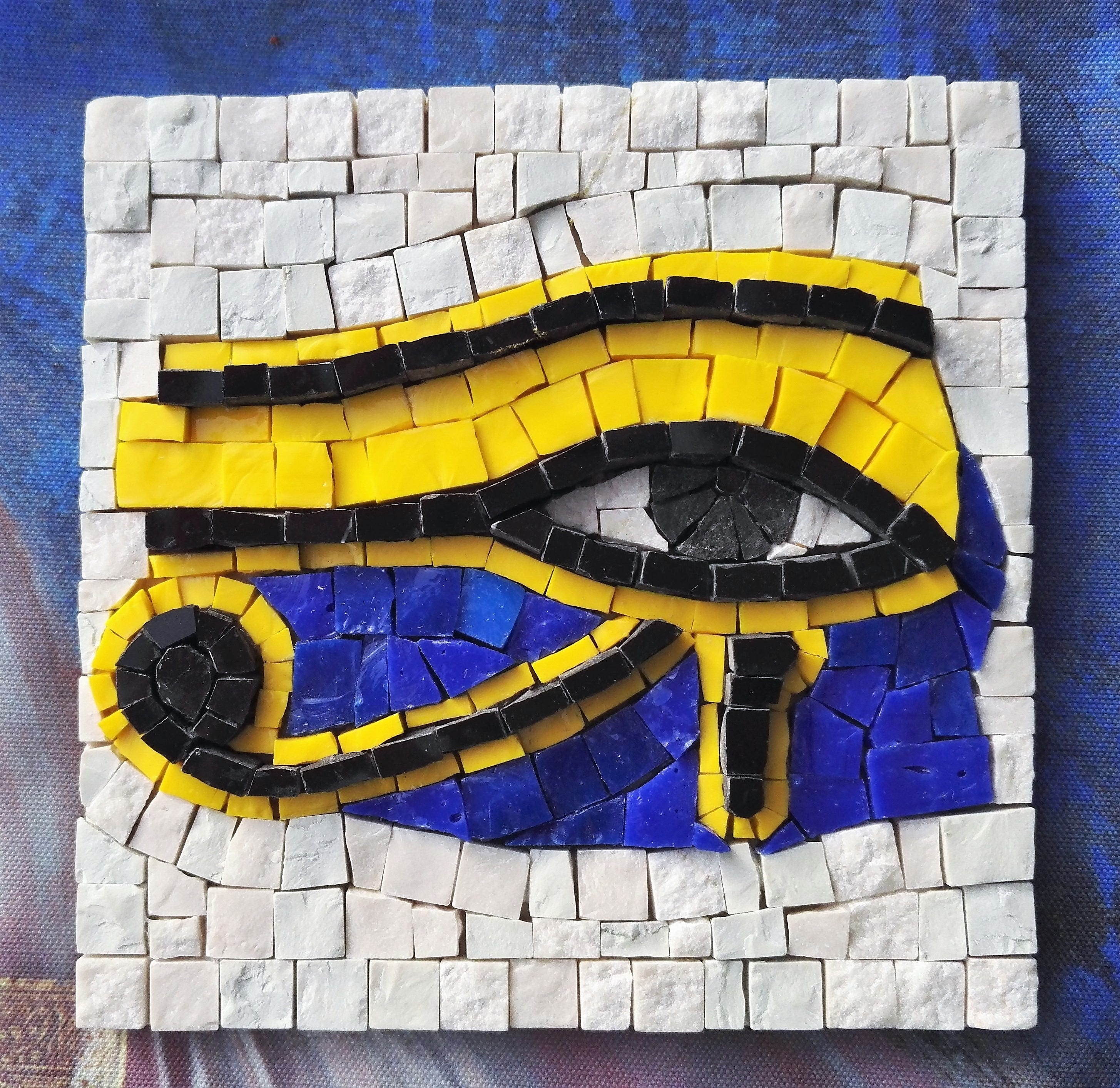 Craft kit for adults The Eye of Ra / Horus DIY Mosaic art | Etsy