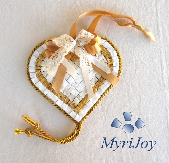 Do it yourself mosaic kit yellow heart marble tiles unique solutioingenieria Choice Image