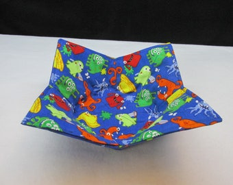 Monsters Reversible Microwave Safe Bowl Cozy