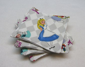 Alice in Wonderland Coasters (Set of Four)